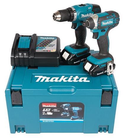 Makita DLX2141AJ LXT 18V 2x2,0Ah, akkukonesarja + Makpac