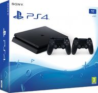 PlayStation 4 Slim (PS4, 1 TB) + 2 ohjainta, pelikonsoli