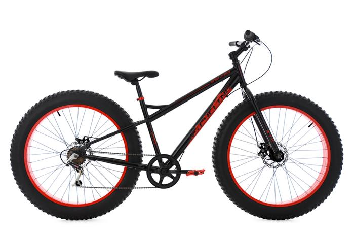 "Fatbike 26"" SNW2458 Black-Red 6 Gear KS Cycling"