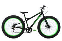 "Fatbike 26"" SNW2458 Black-Green 6 Gear KS Cycling"