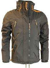 Superdry Polar Wind Attacker Jacket Black Fluro Orange