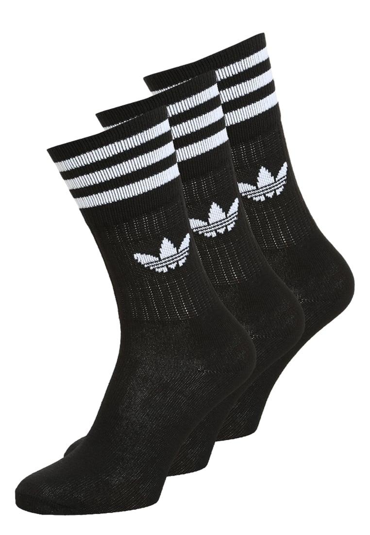 adidas Originals Solid Crew 3 Pack Socks black   white   musta Koko ... 012c306c9d