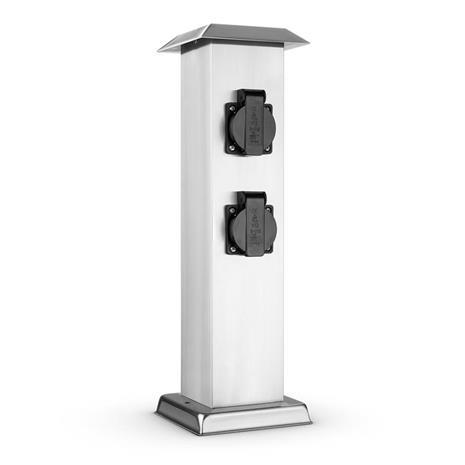 Waldbeck Plug 4 Play Square pistoketolppa 4 pistorasiaa suko kulmikas ruostumatonta terästä