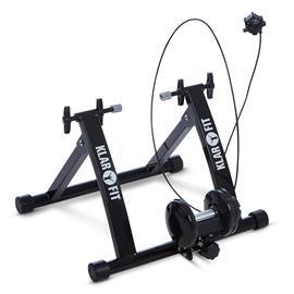 """Klarfit Tourek pyöräilyrulla harjoitusvastus kotiin 26/28"""""""" 100 kg terästä musta"""
