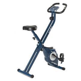 Klarfit Azura X-Bike kotitreenauslaite max 100 kg pulssimittari taitettava 3 kg sininen