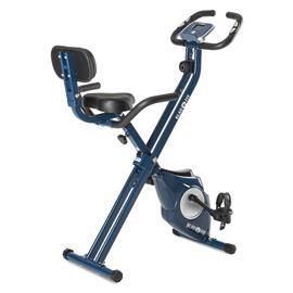 Klarfit Azura Pro X-Bike kotitreenauslaite max 100 kg pulssimittari taitettava 3 kg sininen