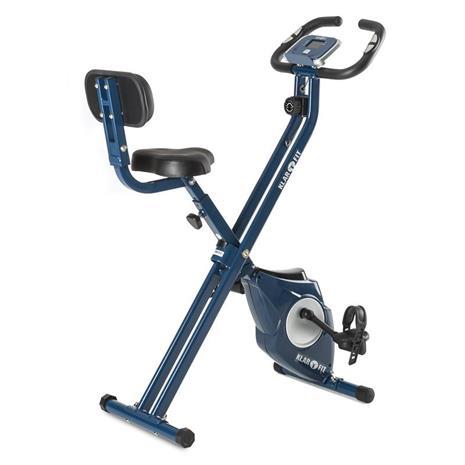 Klarfit Azura CF X-Bike kotitreenauslaite max 100 kg pulssimittari taitettava 3 kg sininen