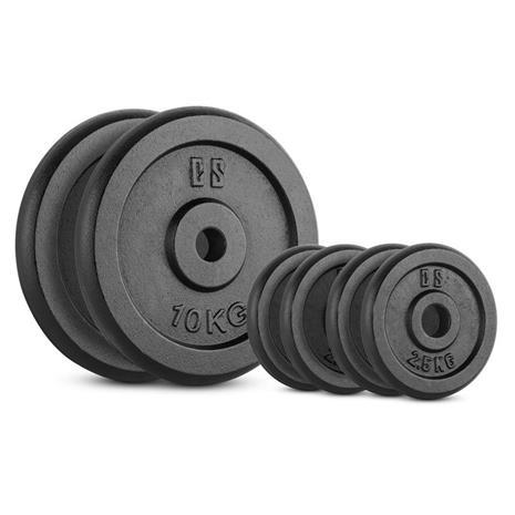 CAPITAL SPORTS IPB 30 kg Set Gewichtsscheibenset 4 x 2,5 kg + 2 x 10 kg 30 mm