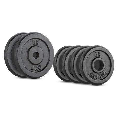 CAPITAL SPORTS IPB 15 kg Set Gewichtsscheibenset 4 x 1,25 kg + 2 x 5 kg 30 mm