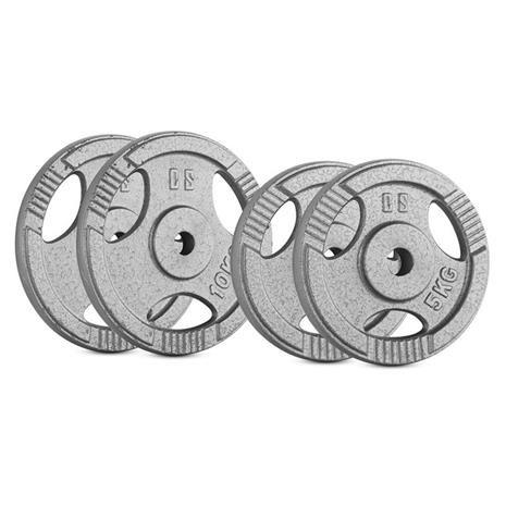 CAPITAL SPORTS IP3H 30 kg Set Gewichtsscheibenset 2 x 5 kg + 2 x 10 kg 30 mm