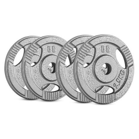 CAPITAL SPORTS IP3H 10 kg Set Gewichtsscheibenset 4 x 2,5 kg 30 mm
