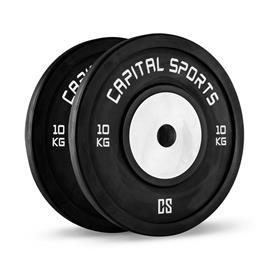 CAPITAL SPORTS Inval Competition Bumper Plates -levypainot alumiininen keskiosa 2 x 10 kg