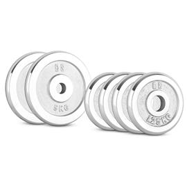 CAPITAL SPORTS CP 15 kg Set Gewichtsscheibenset 4 x 1,25 kg + 2 x 5 kg 30 mm