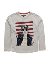 Tommy Hilfiger Girls Face Cn Knit L/S 13927620