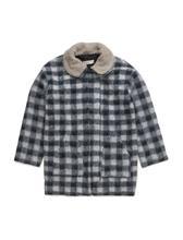 Mango Kids Checked Mohair-Blend Coat 14638536