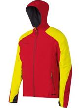 Mammut Ultimate Light Hooded Softshell lava-limeade / punainen Miehet