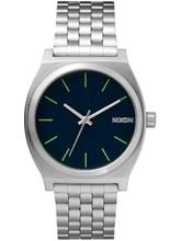 Nixon The Time Teller Rannekello midnight blue / volt green / sininen Miehet