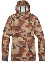 Burton Ak Power Stretch Hood Tekninen paita LS storm camo / kuvioitu Naiset