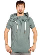 Naketano True Enemy IV T-Shirt green grey melange / vihreä Miehet