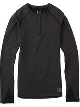 Burton Expedition Wool Tech Henley Tee LS black heather / musta Naiset