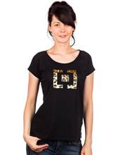 Horsefeathers Jungle T-Shirt cheetah black / musta Naiset
