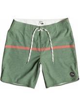 Quiksilver Stripe Scallop Boardshorts all day stripe bronze gre / vihreä Miehet