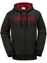 Volcom V Snow Sherpa Fleece Vetoketjullinen huppari vintage black / musta Miehet