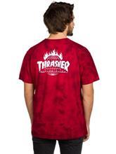HUF Thrasher TDS Crystal Wash T-paita red / punainen Miehet