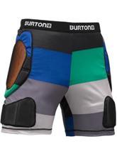 Burton Total Impact Short Suojahousut turf pop stripe / vihreä Miehet