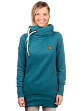 Naketano Darth Long V Hoodie deep blue green melange / sininen Naiset