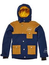 Draussen Flo Jacket Youth navy / brown / kuvioitu Jätkät