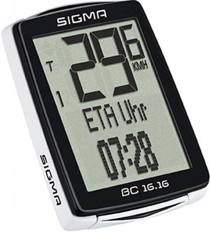 SIGMA SPORT BC 16.16 ajotietokone kabelgebunden , musta