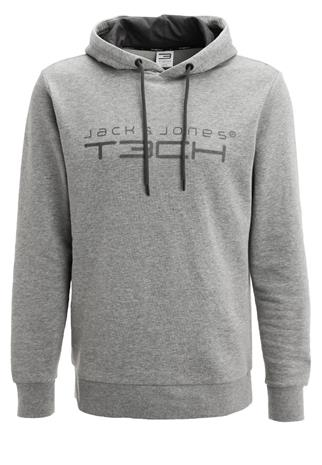 Jack & Jones Tech JJTUP Collegepaita light grey melange