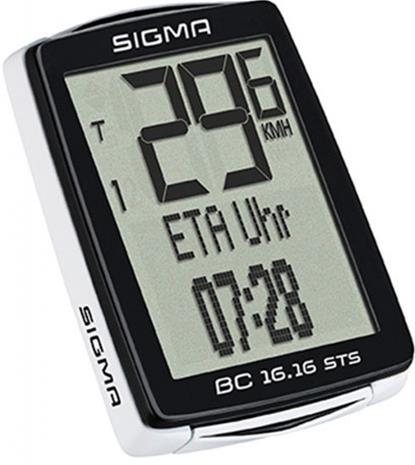 SIGMA SPORT BC 16.16 STS ajotietokone kabellos , musta
