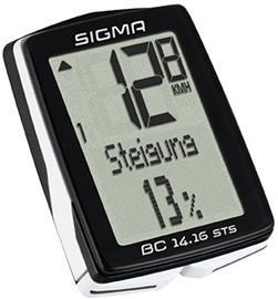 SIGMA SPORT BC 14.16 STS ajotietokone kabellos , musta