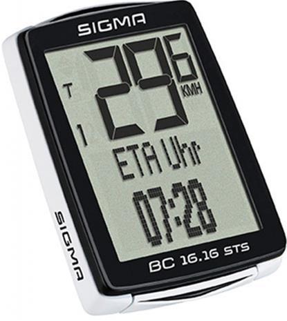 SIGMA SPORT BC 16.16 STS CAD ajotietokone kabellos , musta