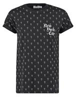 Topman REGULAR FIT Printtipaita black