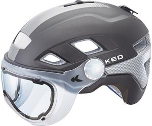 KED B-VIS kypärä , musta/hopea