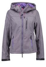 Superdry Välikausitakki dark grey/gritfluro purple