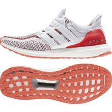 adidas Juoksukengät Ultra Boost Valkoinen/Punainen