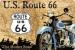 Route 66 Sininen Moottoripyörä Kilpi 20x30cm