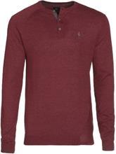 Volcom Understated Henley Pullover heather crimson / punainen Miehet