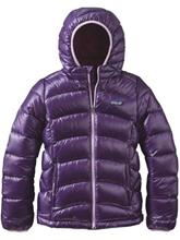 Patagonia Hi-Loft Hooded Down Takki tytöille panther purple / violetti Tytöt
