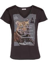 Volcom Aaron Mason Fa Tiger T-Shirt vintage black / musta Naiset