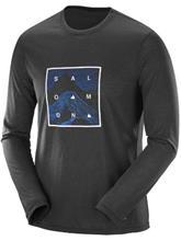 Salomon Explore Graphic Tekninen paita LS black / musta Miehet