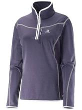 Salomon Atlantis Fleece Pullover nightshade grey / harmaa Naiset
