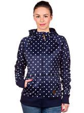 Burton Scoop Vetoketjullinen huppari nightrider dot / sininen Naiset