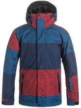 Quiksilver Mission Printed Poikien takki s stripe racing red / punainen Jätkät