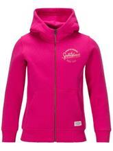 Peak Performance Sweat Vetoketjullinen huppari tytöille bright pink / pinkki Tytöt