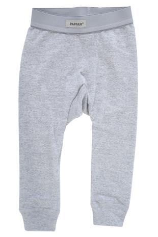 PAPFAR - Baby Leggings, Wool - Grey Melange (716257-130)